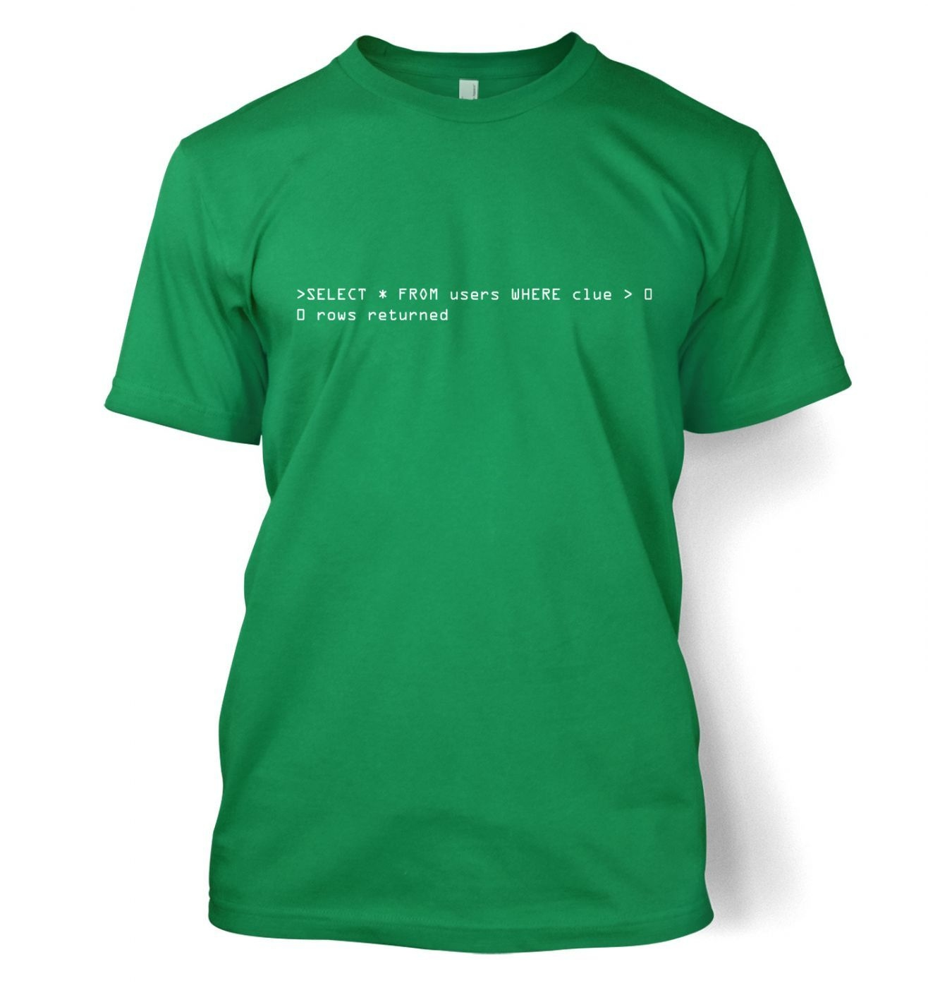 Clueless Users SQL Query men's t-shirt