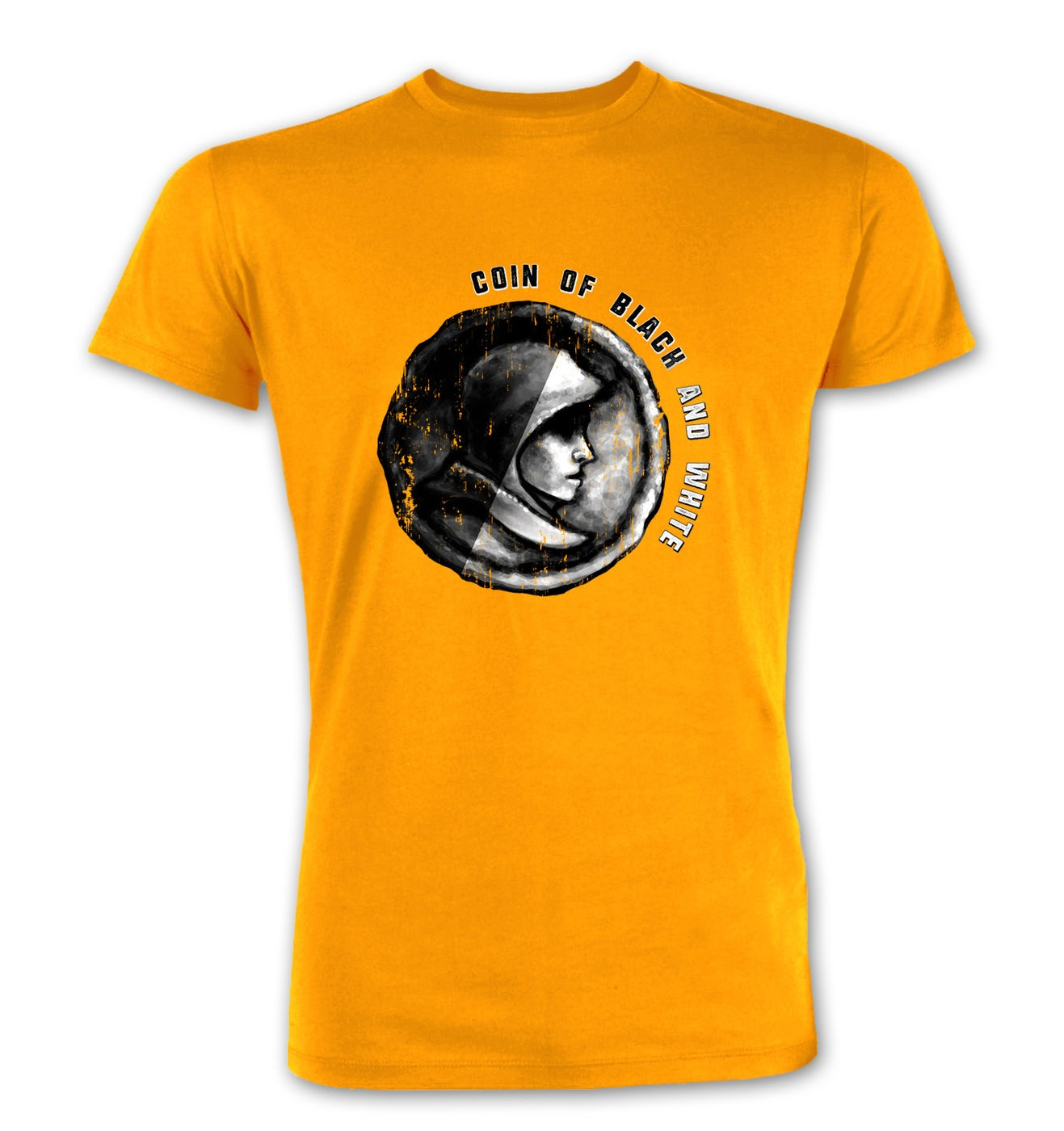 Coin Of Black And White premium t-shirt by Something Geeky