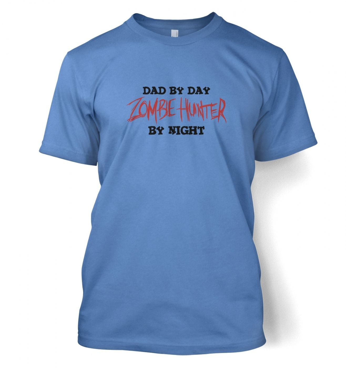 Dad By Day Zombie Hunter By Night men's t-shirt