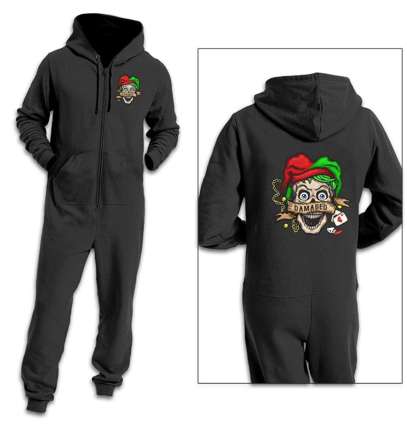 Damaged Tattoo adult onesie by Something Geeky