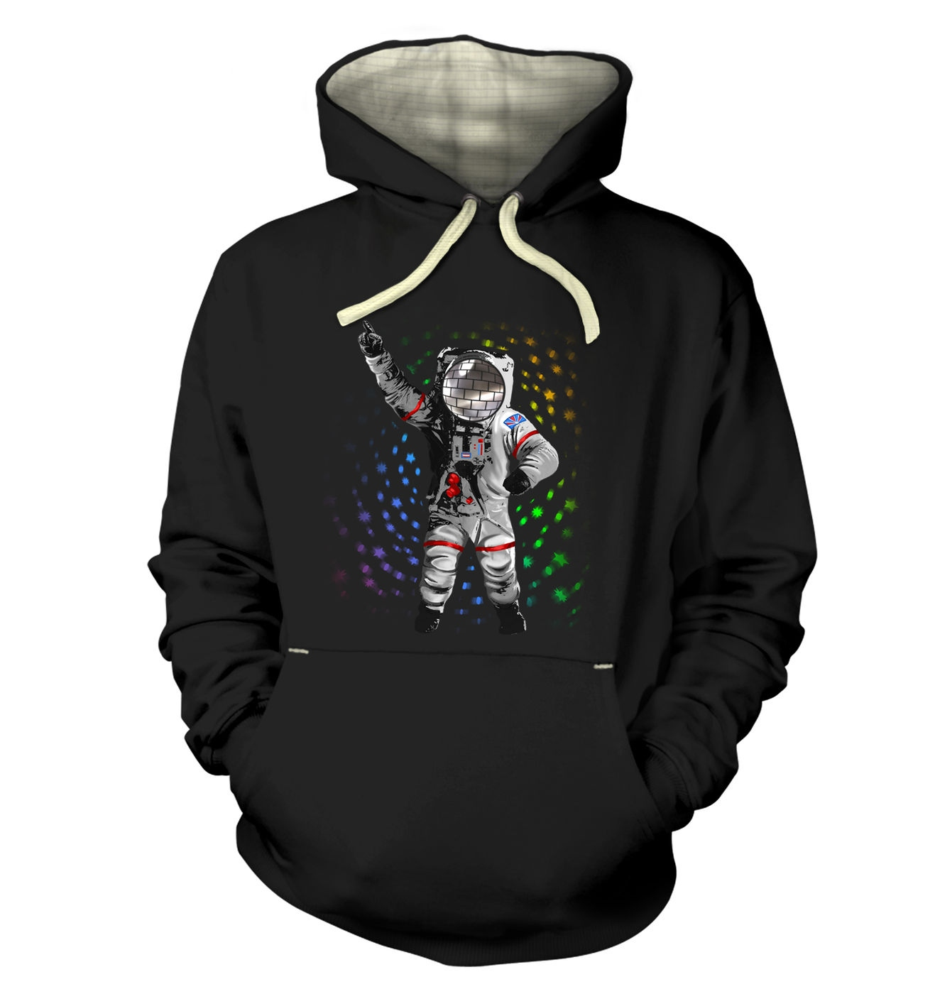 Disconaut a dancing astronaut on the moon premium hoodie