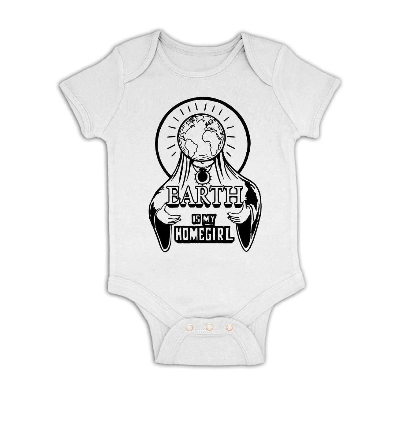 Earth Is My Homegirl baby grow by Something Geeky