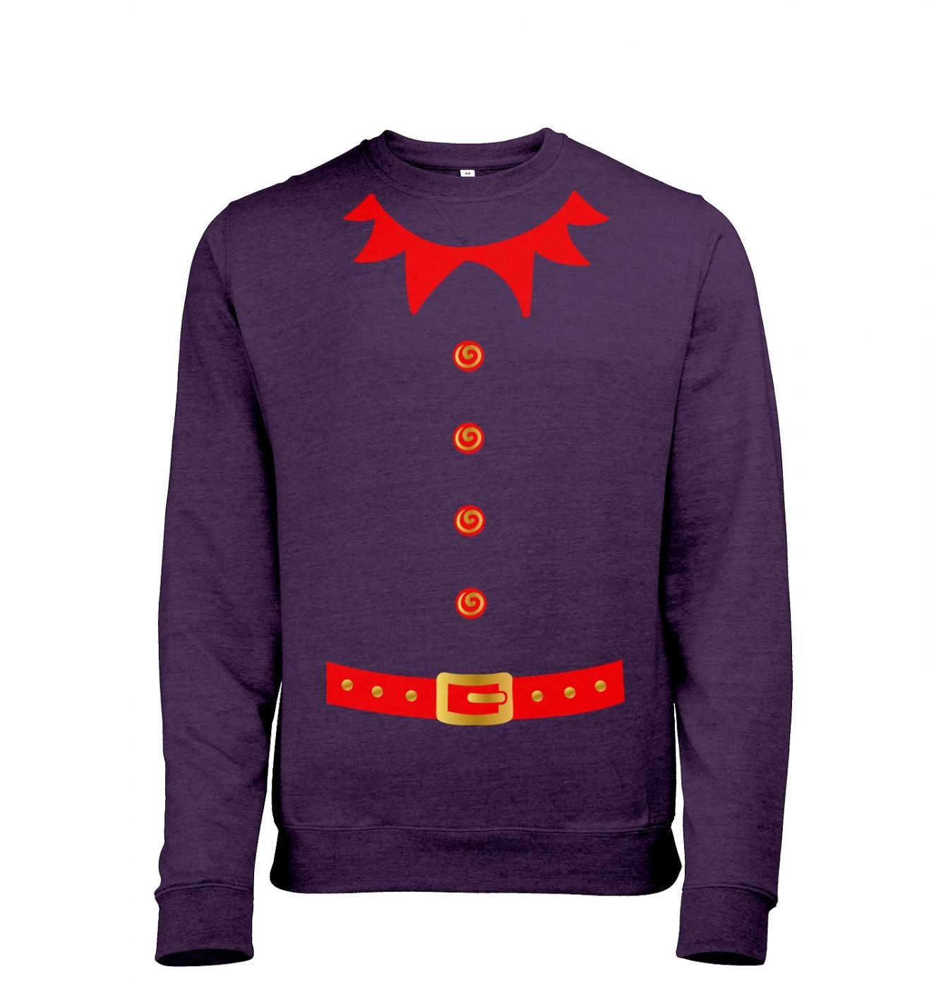 Elf costume (red detail) sweatshirt (heather)