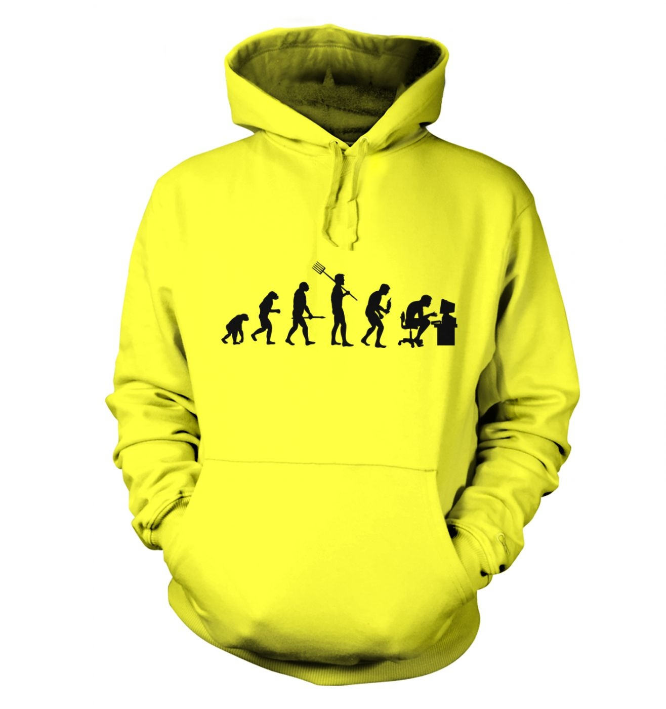 Evolution of the geeky man hoodie