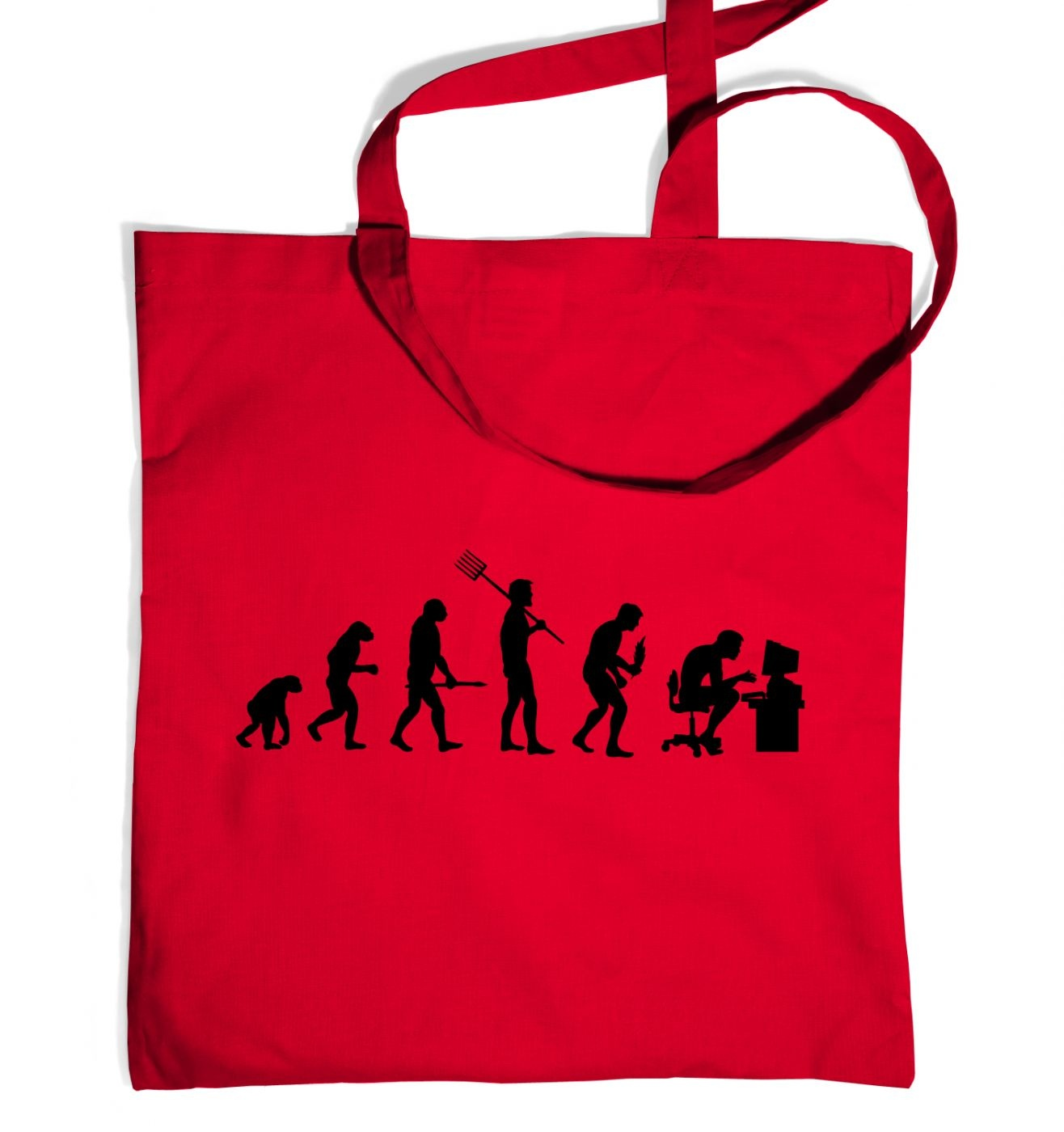Evolution of a geeky man (black detail) tote bag