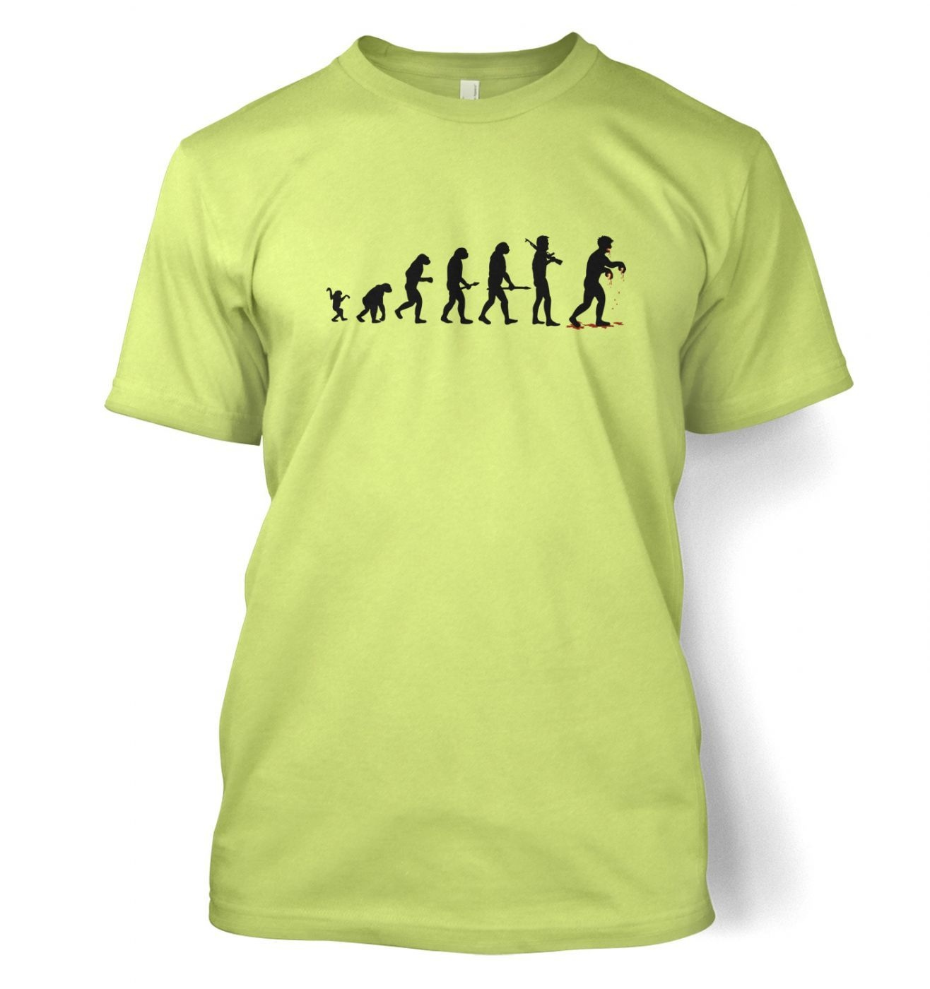 Evolution Of Zombies men's t-shirt