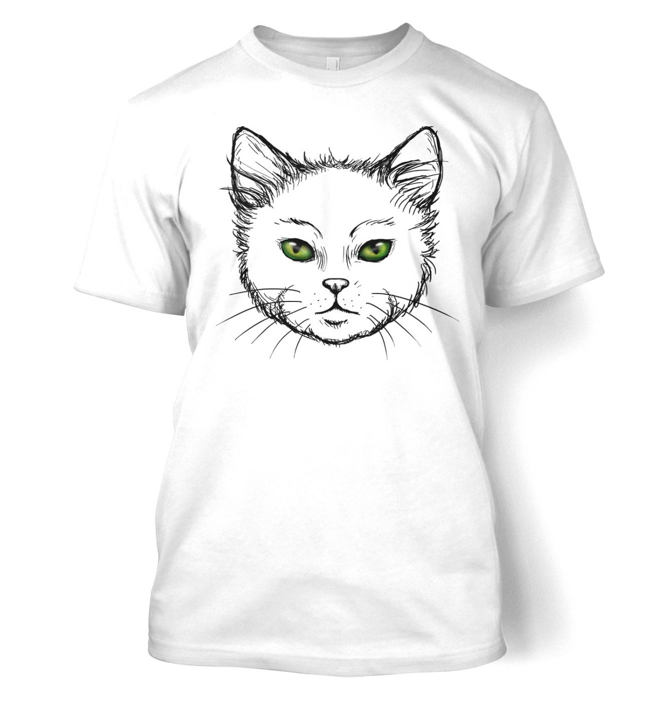 Eyes Of The Cat t-shirt (white) - Cute cat tshirt