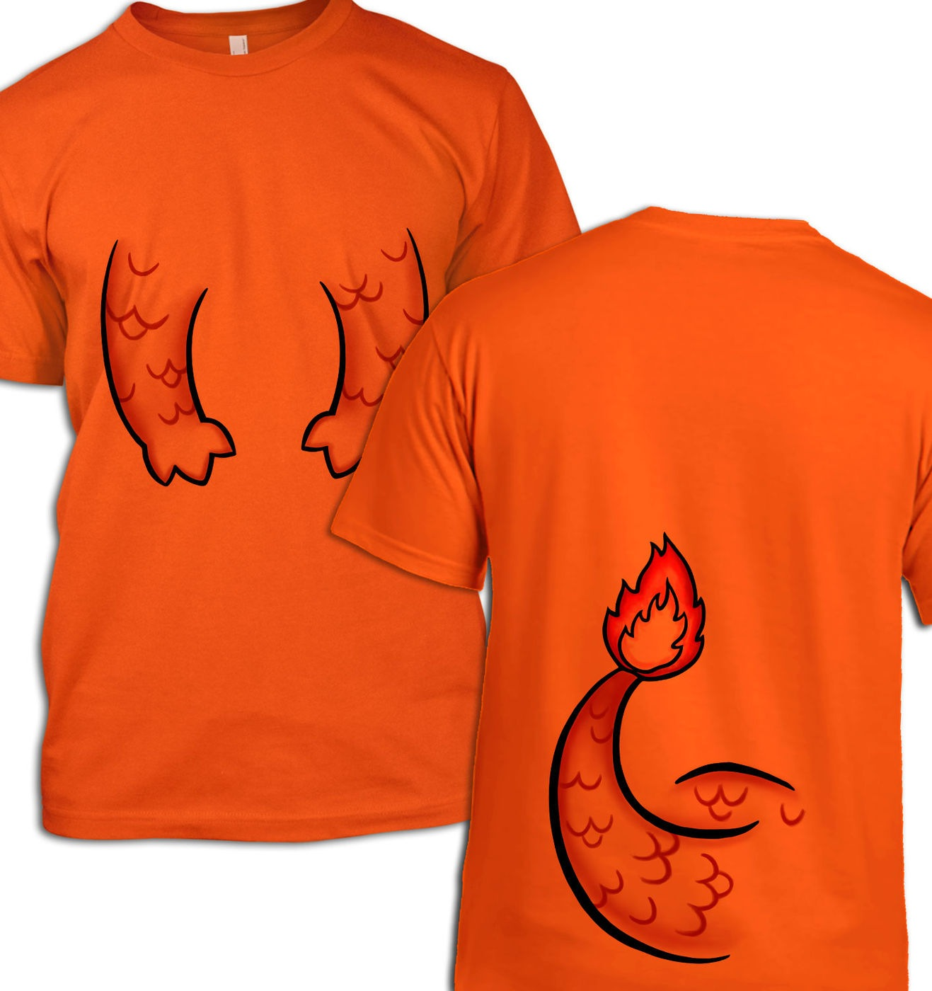 Fire Pocket Monster Costume t-shirt by Something Geeky