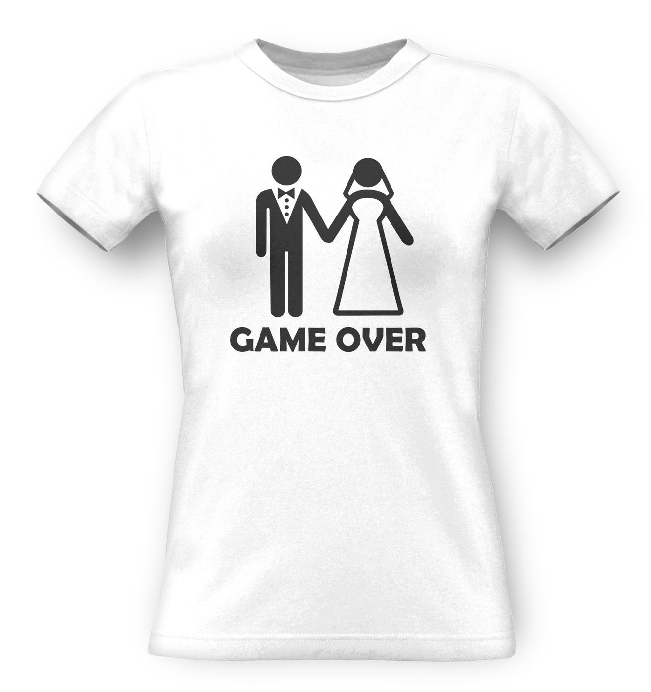 Game Over Couple classic women's t-shirt by Something Geeky
