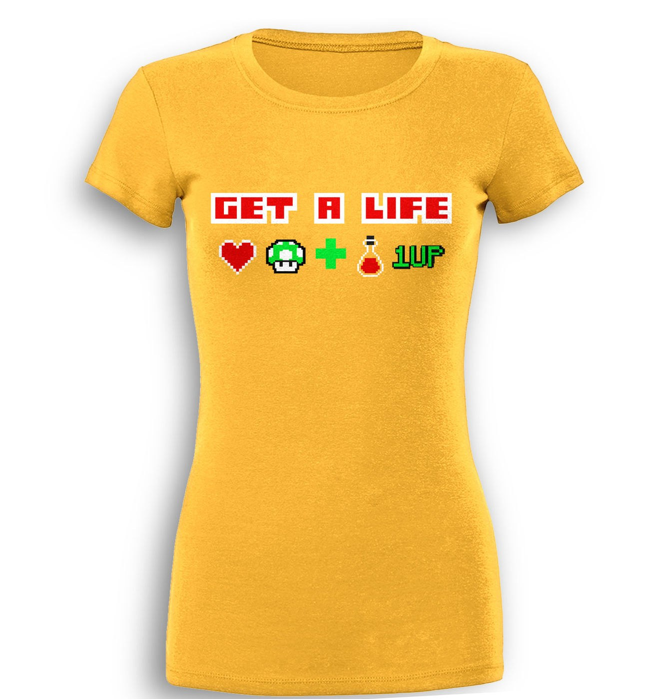 Get A Life premium women's t-shirt by Something Geeky