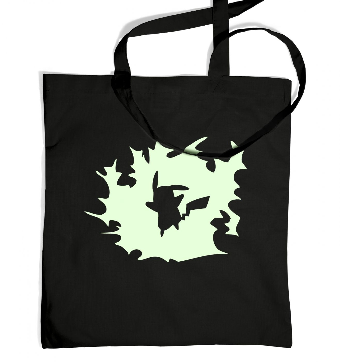Glowing Pikachu Silhouette Tote Bag - Inspired by Pokemon