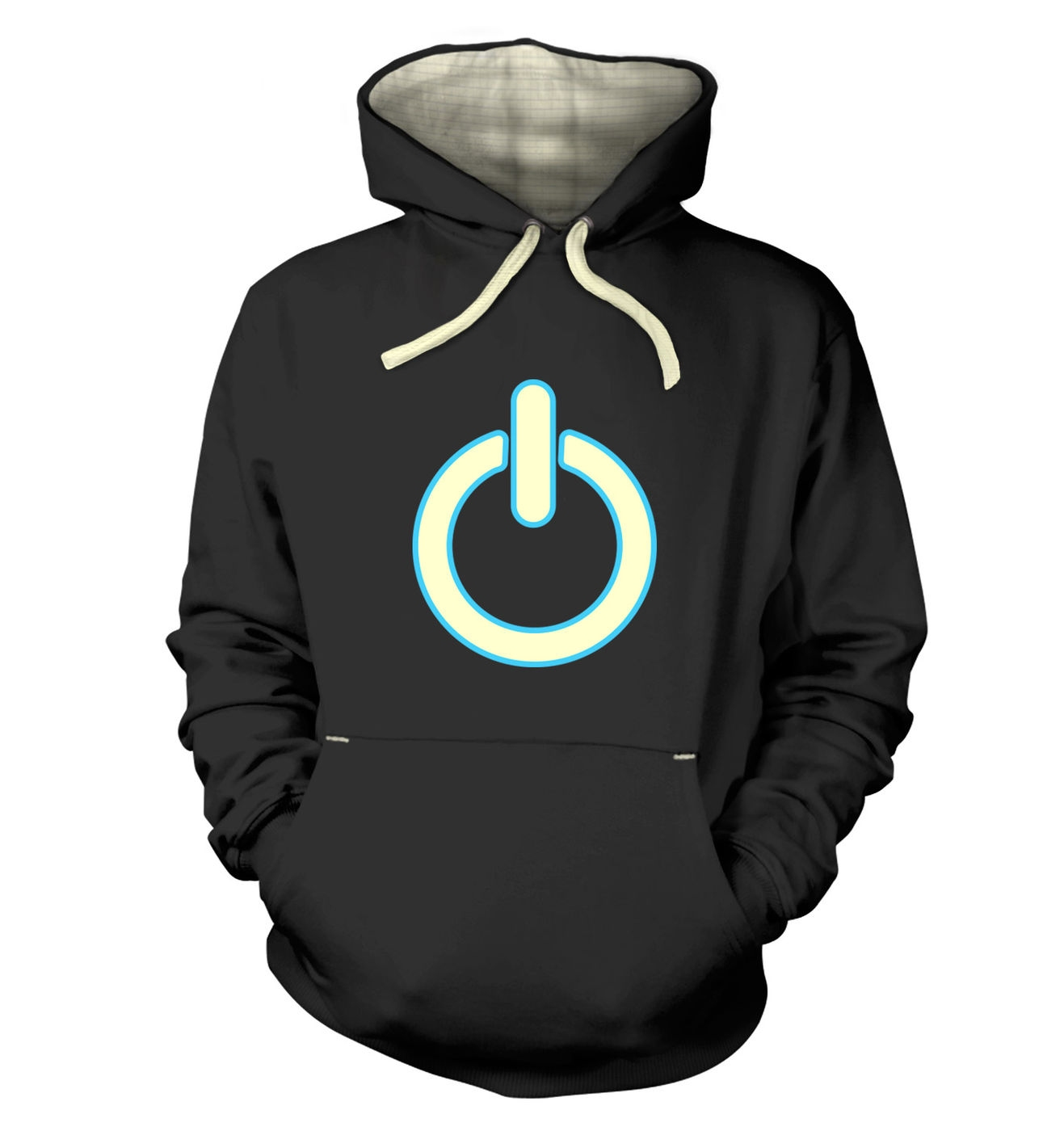 Glow In The Dark Power Symbol premium hoodie