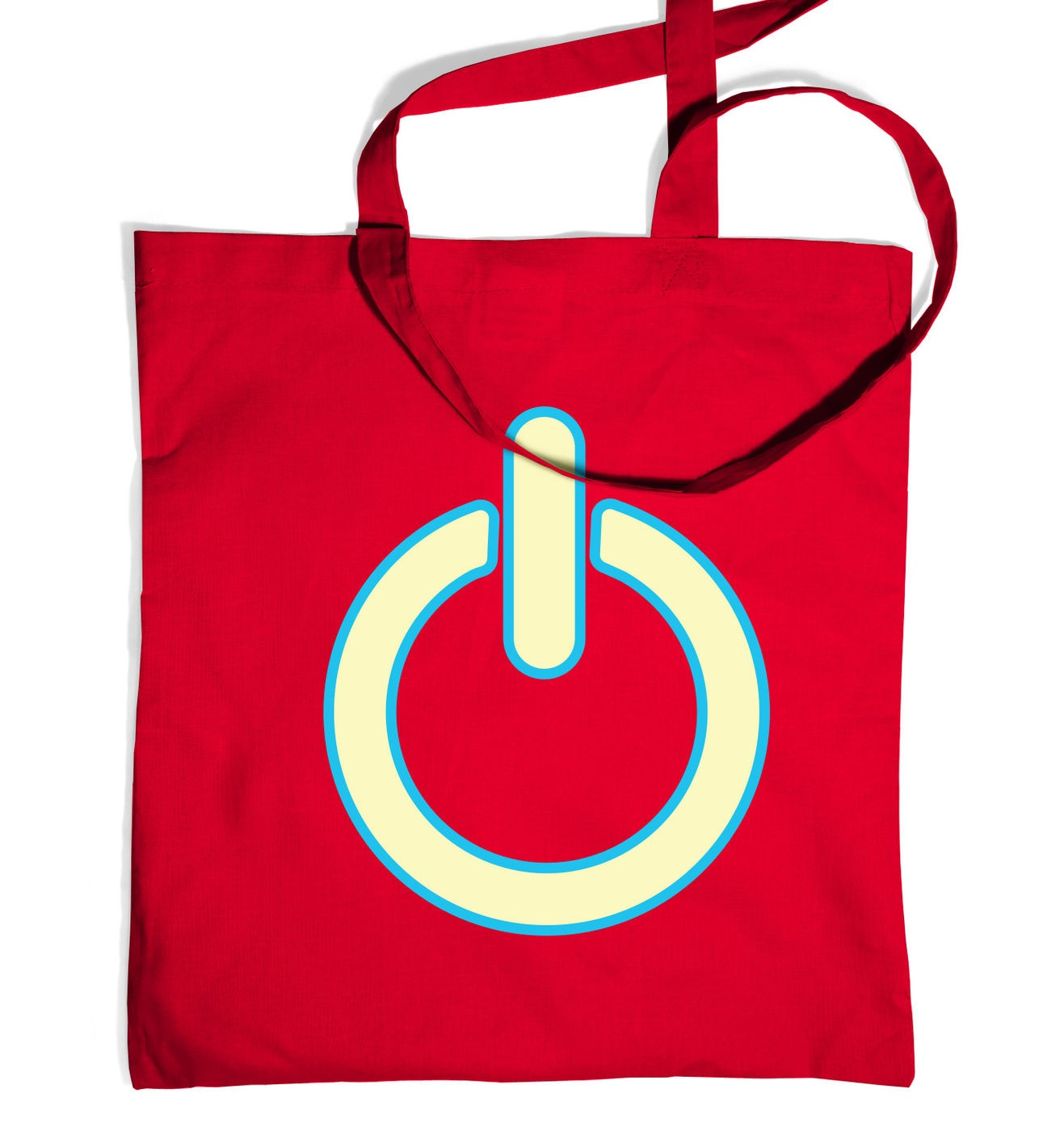 Glow In The Dark Power Symbol tote bag