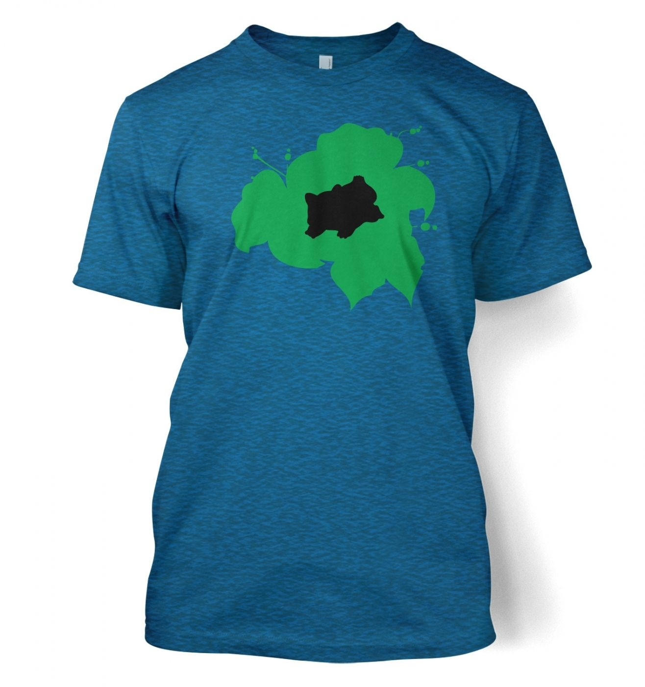 Green Bulbasaur Silhouette T-Shirt - Inspired by Pokemon