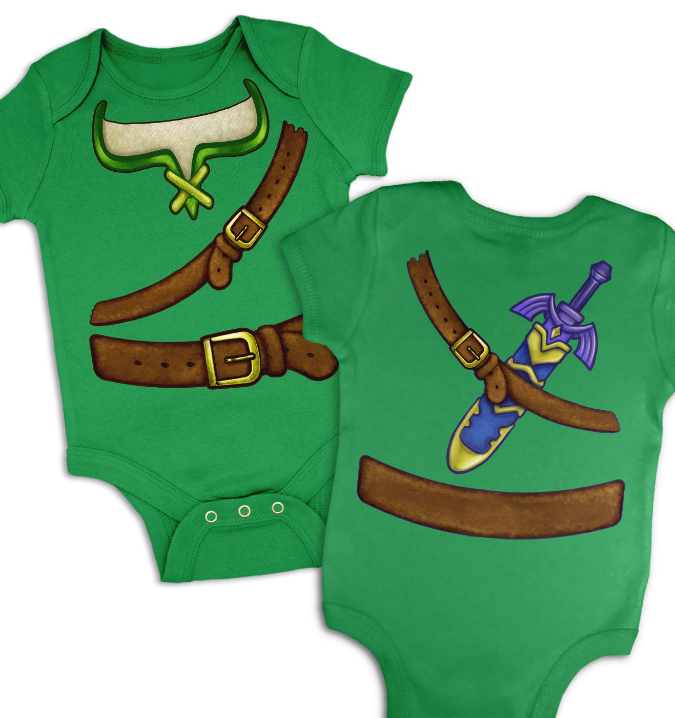 Hero Of Time Costume baby grow by Something Geeky