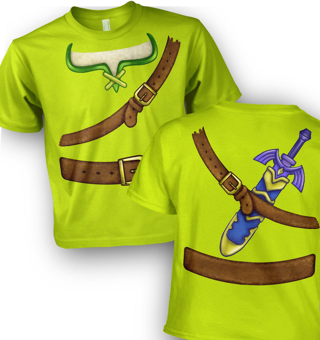 Hero Of Time Costume kids t-shirt by Something Geeky