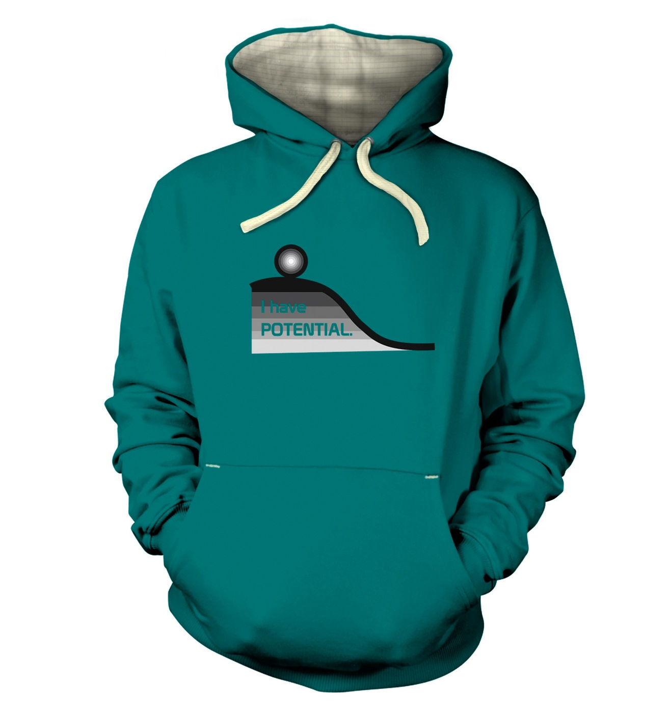 I Have Potential geeky science slogan premium hoodies