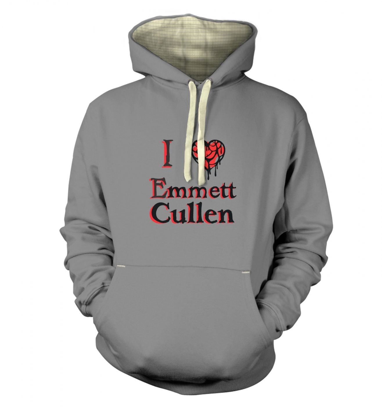 I heart Emmett Cullen premium hoodie - Inspired by Twilight