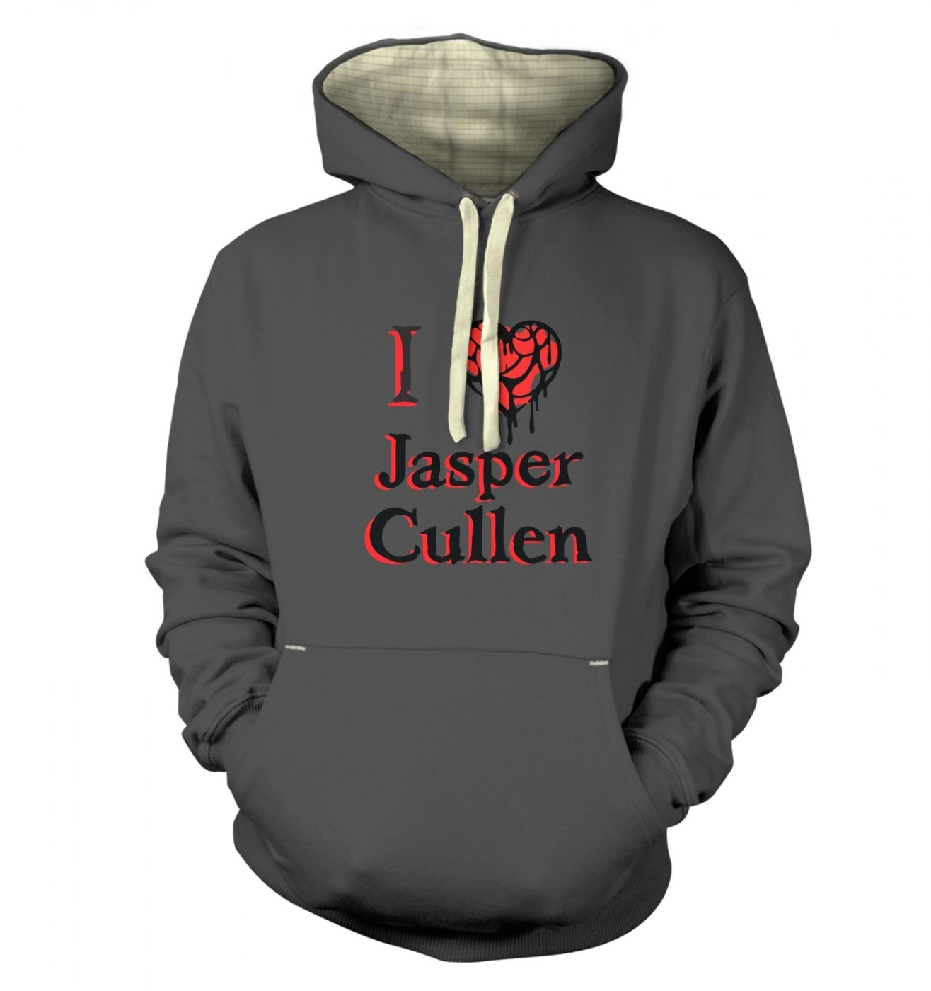 I heart Jasper Cullen premium hoodie - Inspired by Twilight