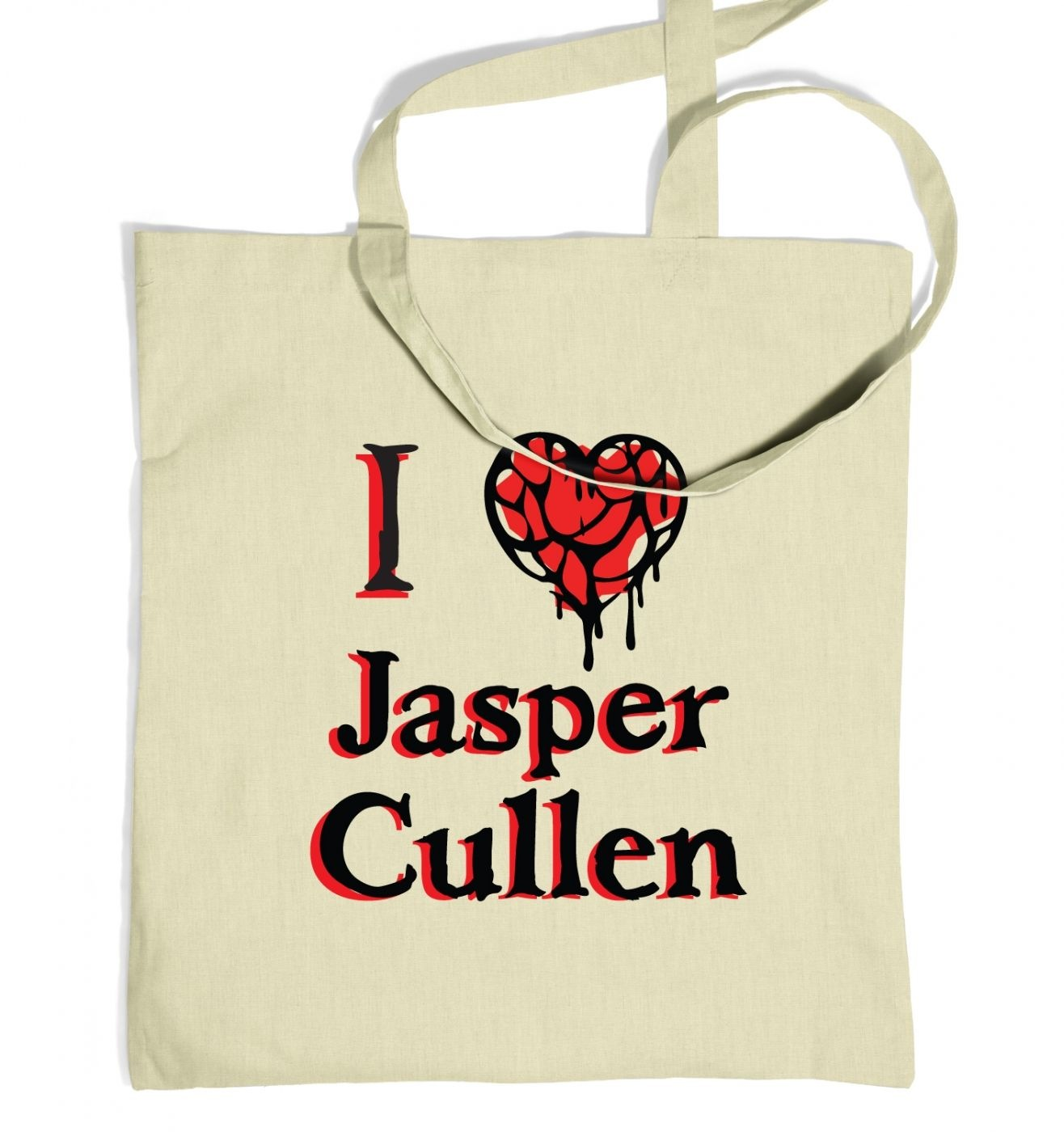 I heart Jasper Cullen tote bag - Inspired by Twilight