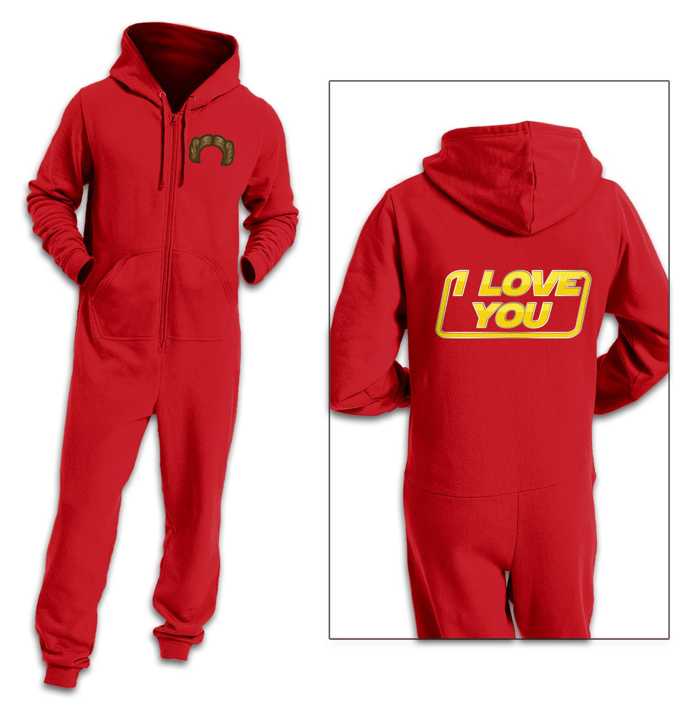 I Love You couples onesie by Something Geeky