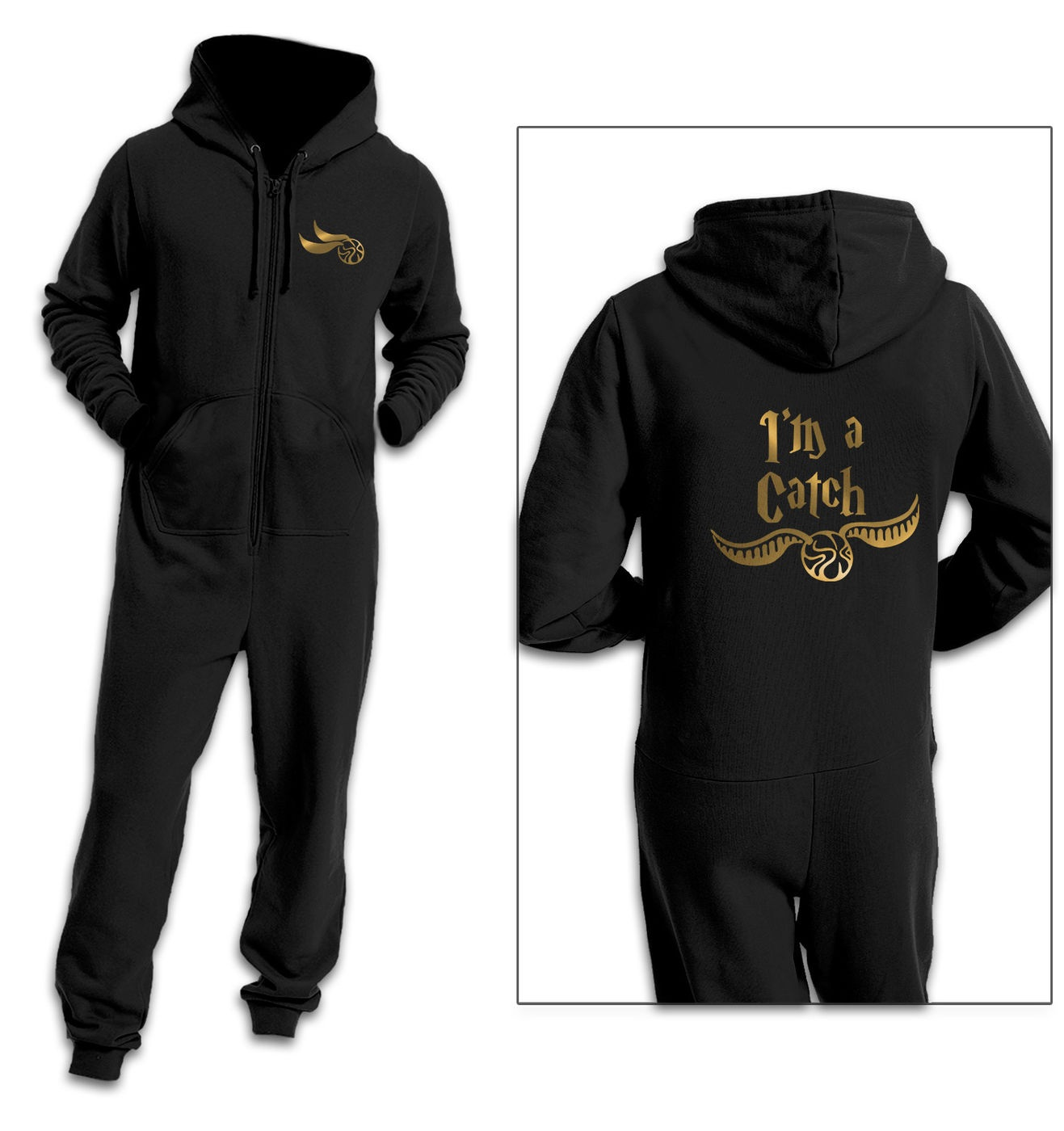 I'm A Catch couples onesie by Something Geeky