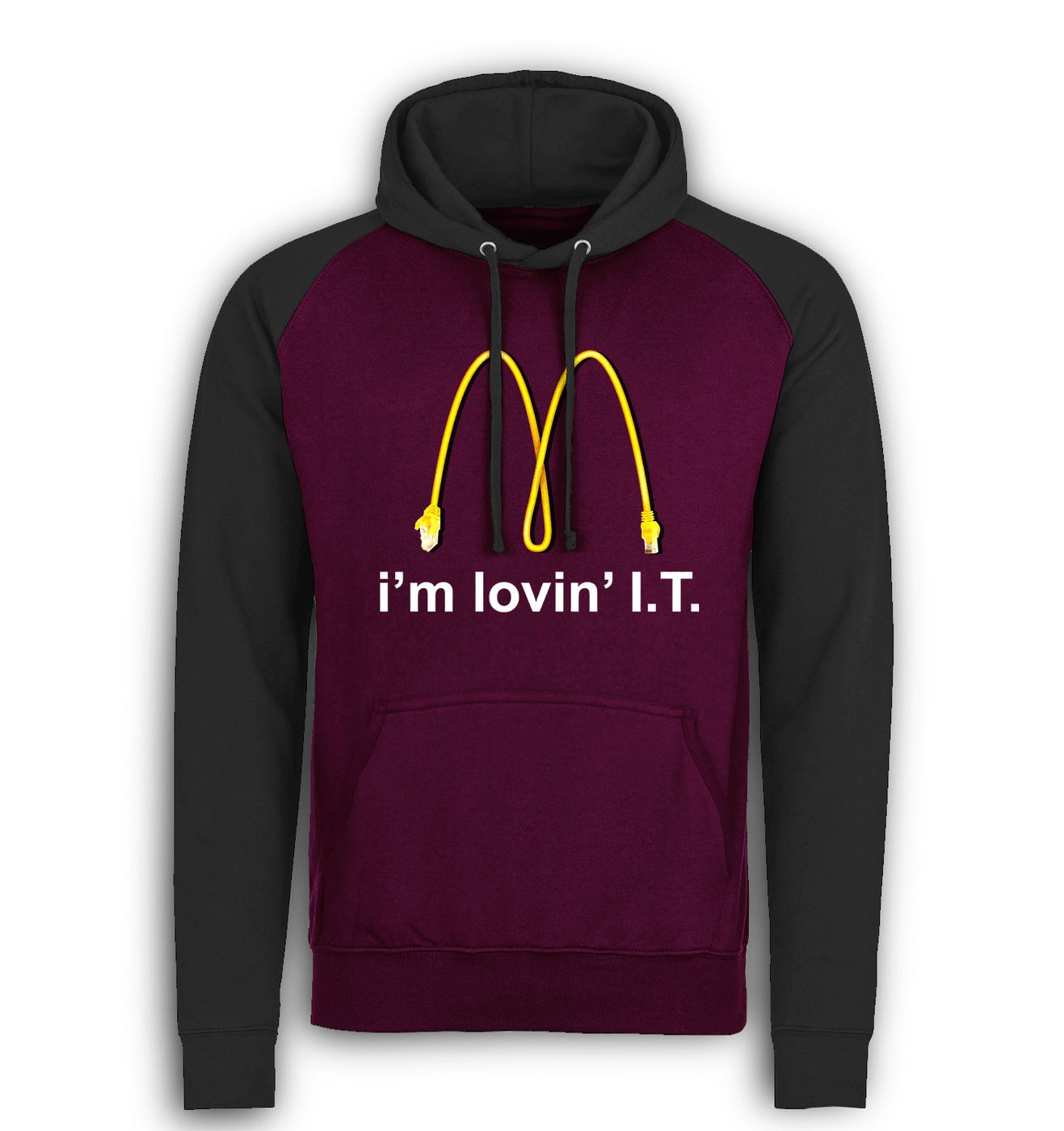 I'm Lovin' I.T. baseball hoodie by Something Geeky
