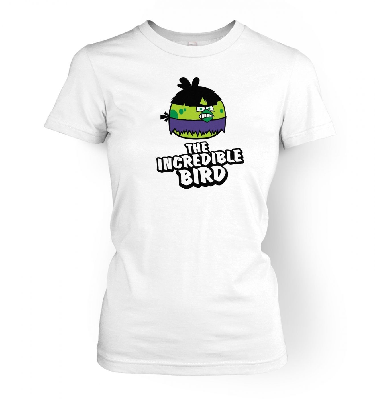 The Incredible Bird Ladies'  T shirt Inspired by Avengers, Angry Birds, The Hulk