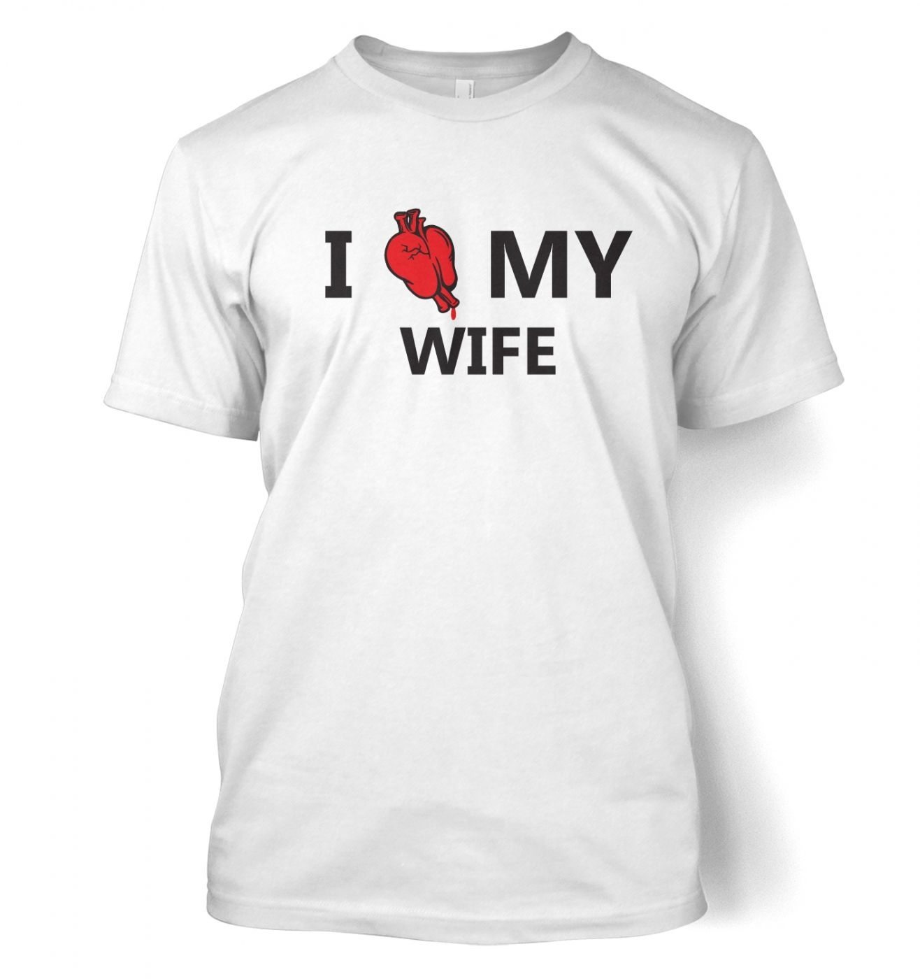 I real heart my wife t-shirt