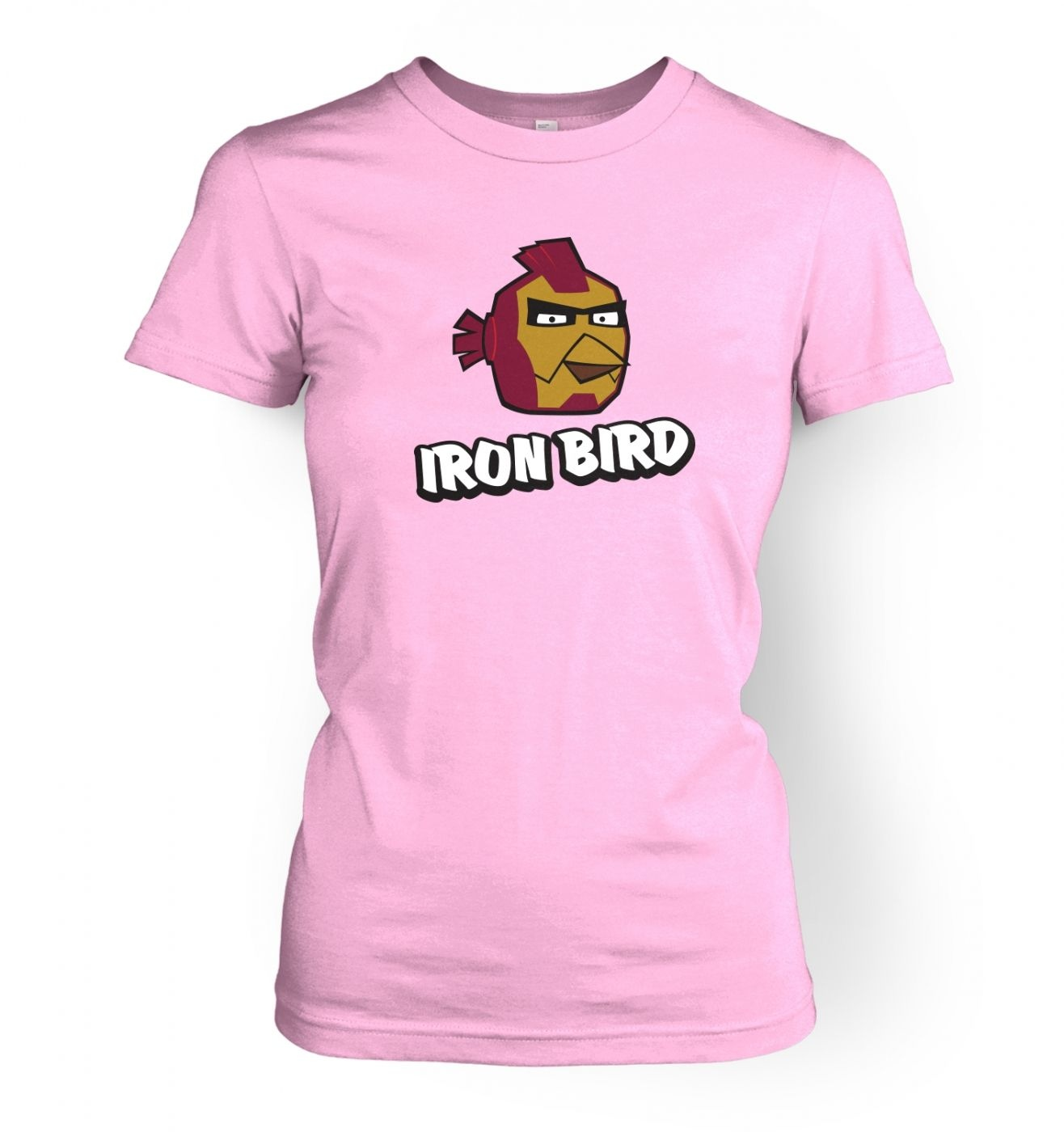 Iron Bird Ladies' T shirt Inspired By Avengers, Angry Birds And Iron Man