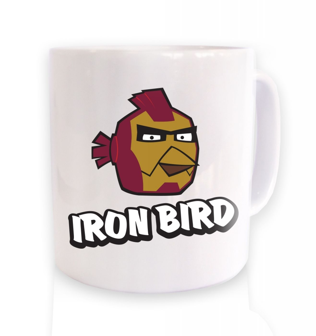Iron Bird Mug Inspired By Avengers, Angry Birds And Iron Man