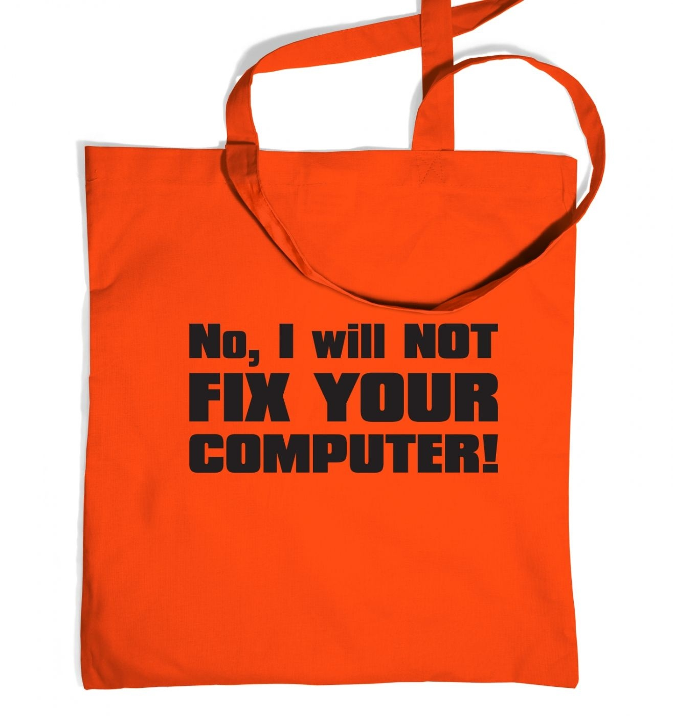 I Will NOT Fix Your Computer tote bag