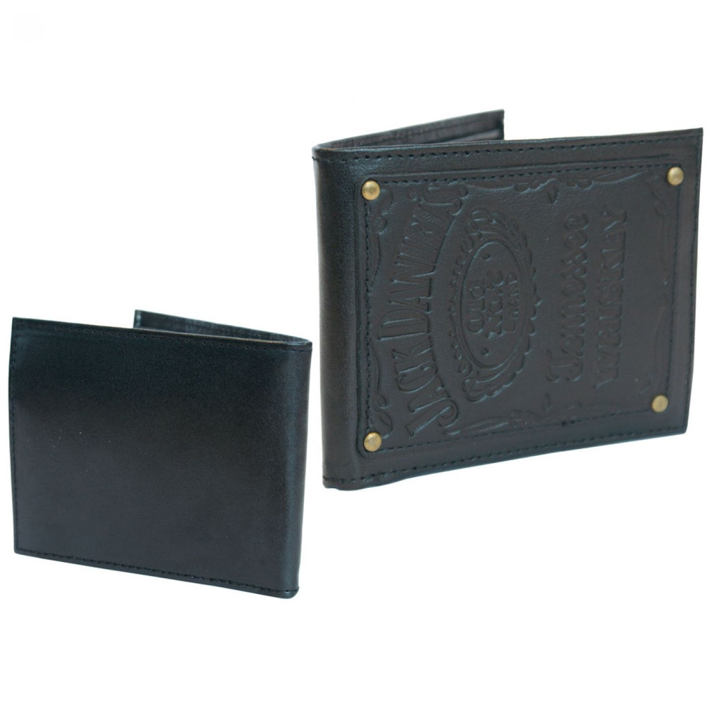 Jack Daniel's wallet with engraved patch - JD Old No.7 Brand leather wallet
