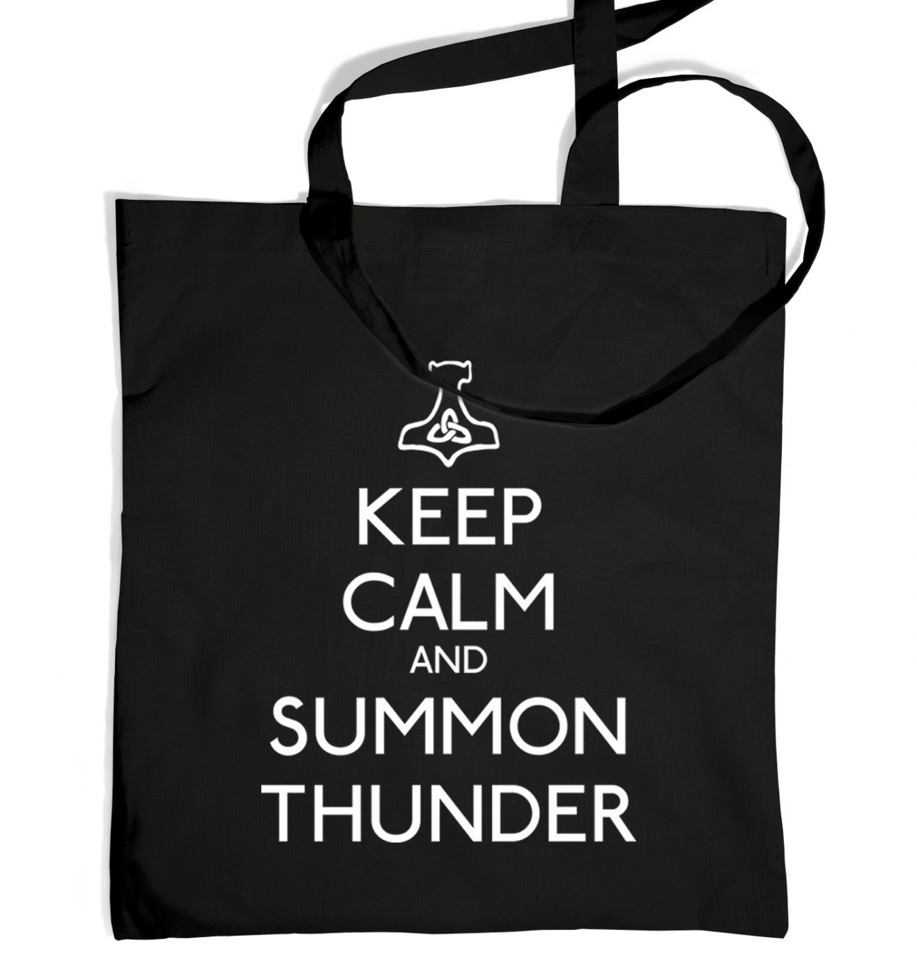 Keep Calm and Summon Thunder tote bag