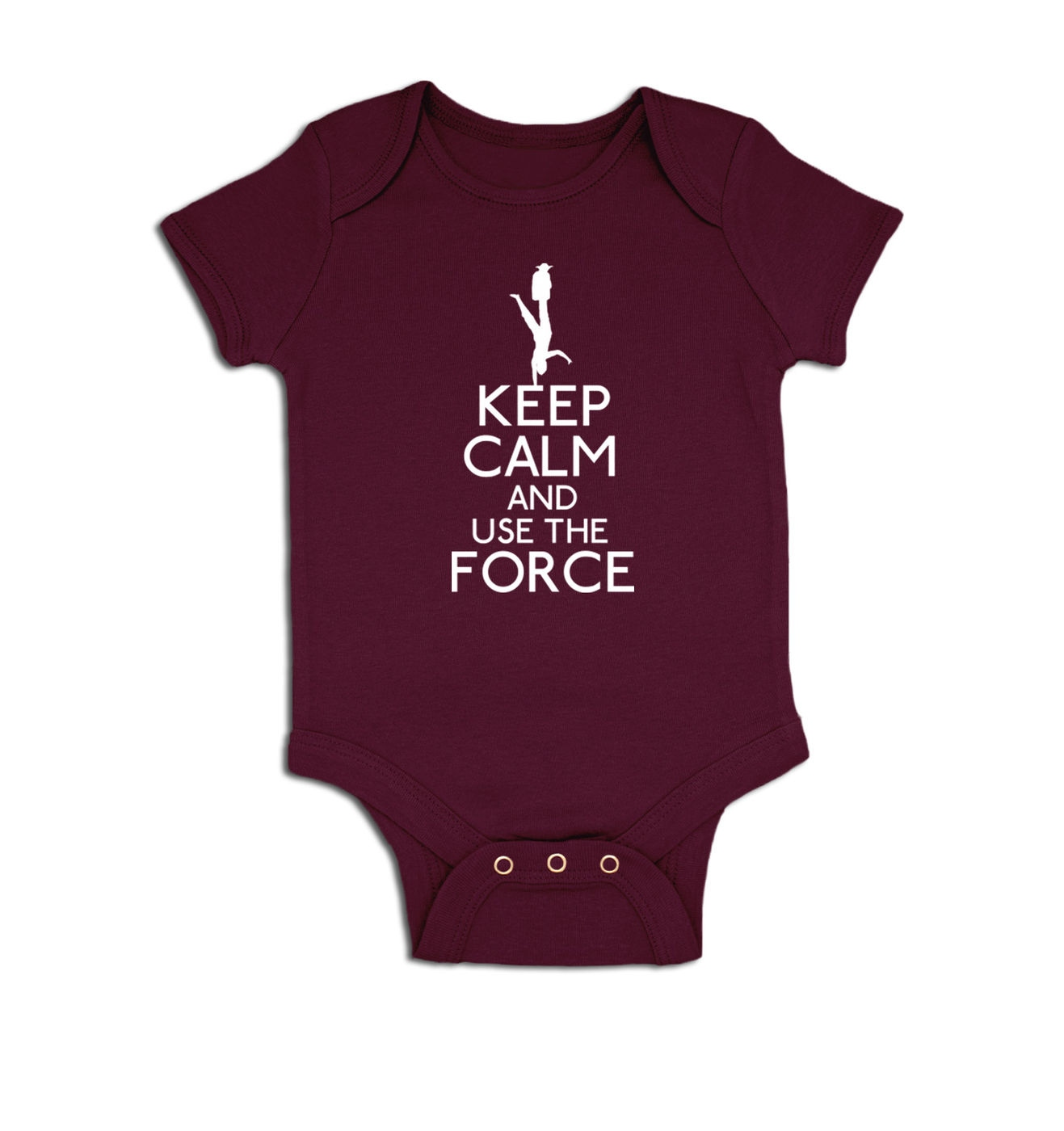 Keep Calm And Use The Force baby grow by Something Geeky