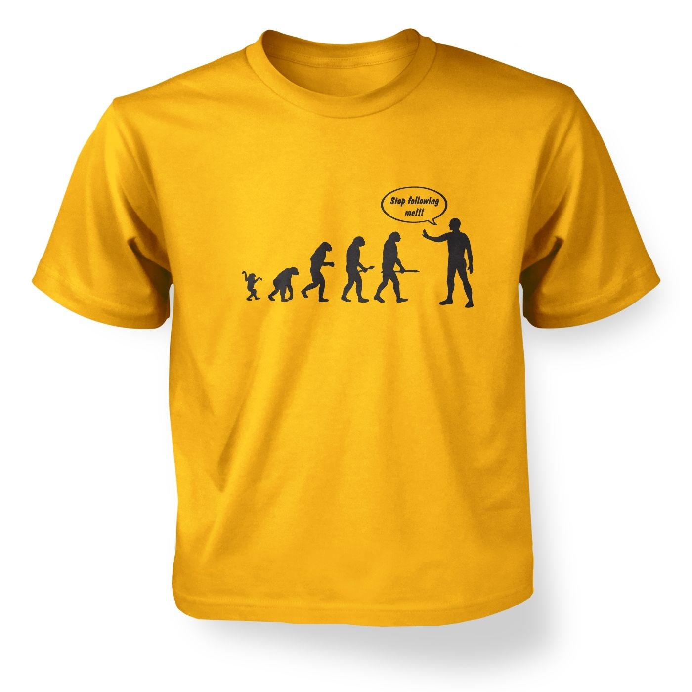 Kids' stop following me! evolution t-shirt
