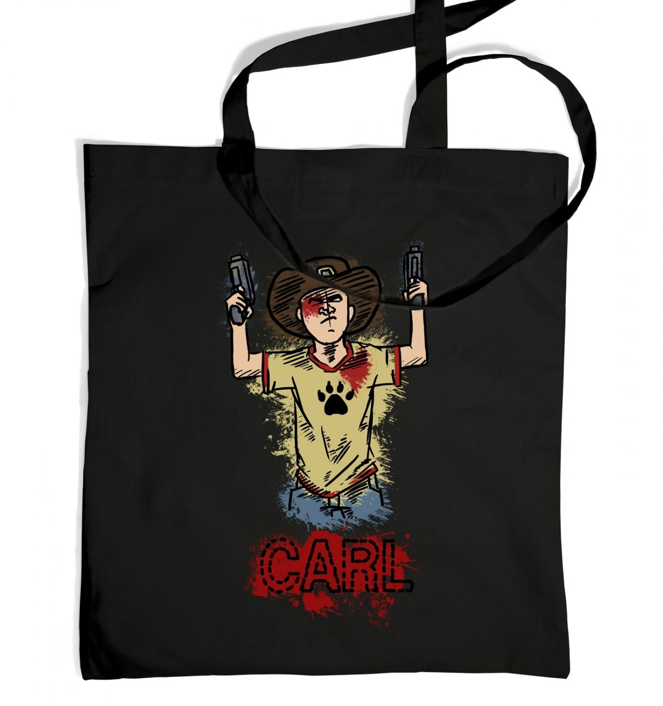 with guns tote bag
