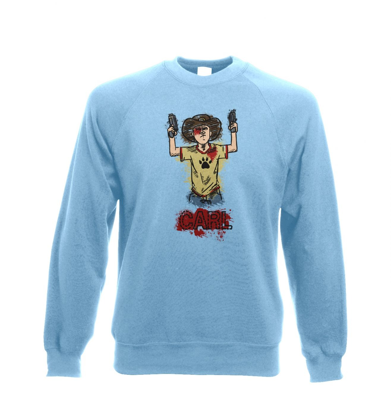 Kid with guns crewneck sweatshirt