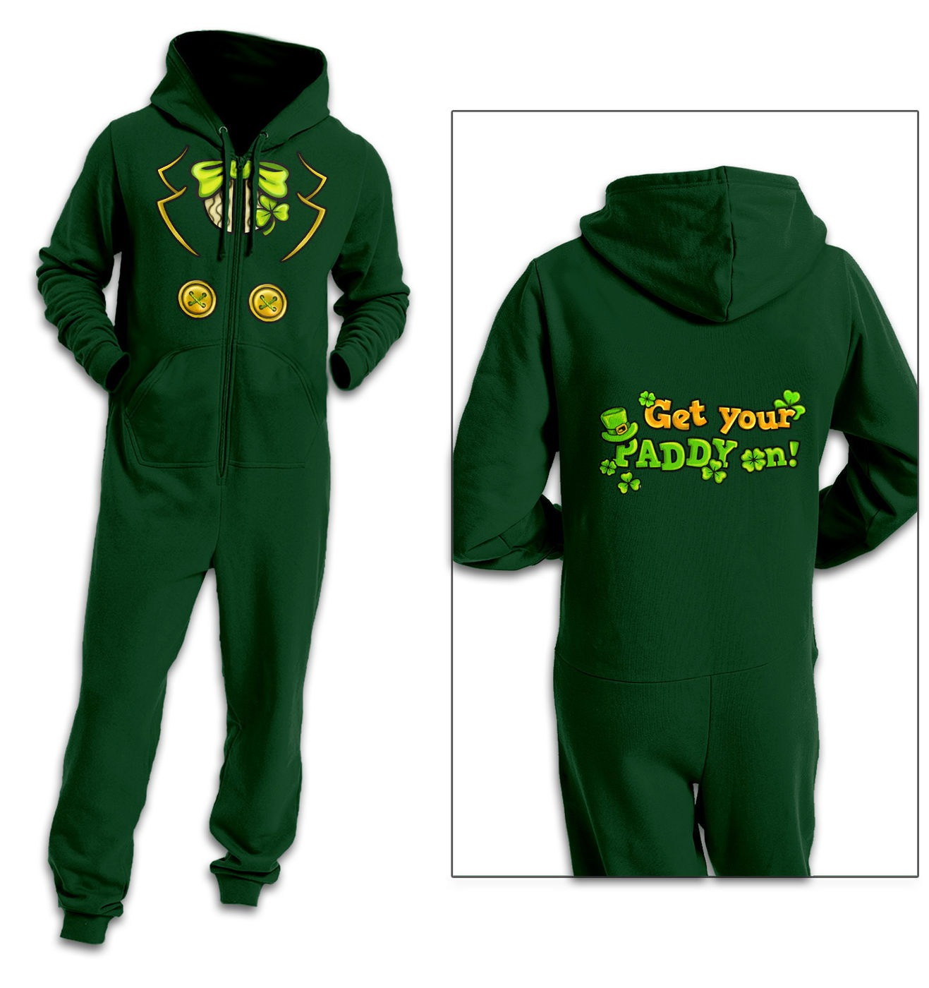 Leprechaun Costume adult onesie by Something Geeky