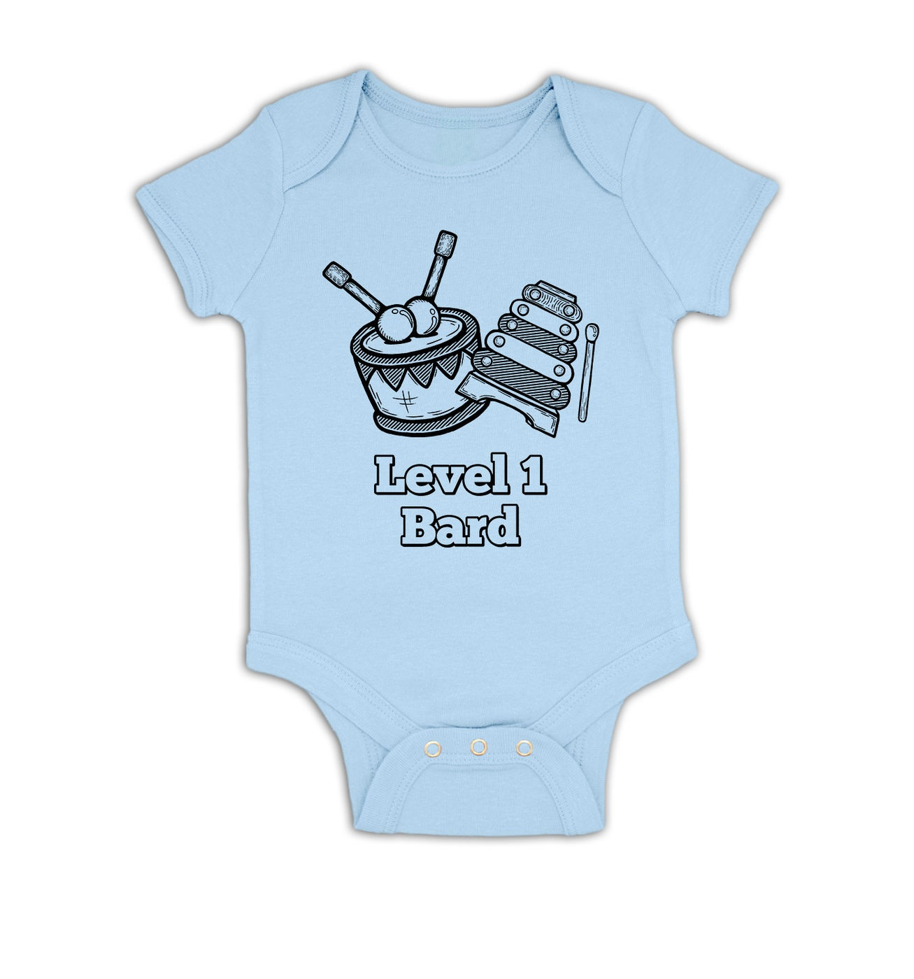 Level 1 Bard baby grow by Something Geeky