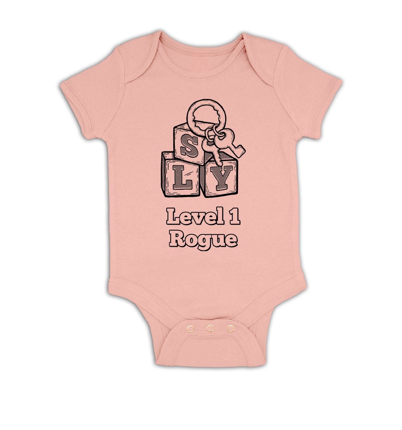 Level 1 Rogue baby grow by Something Geeky