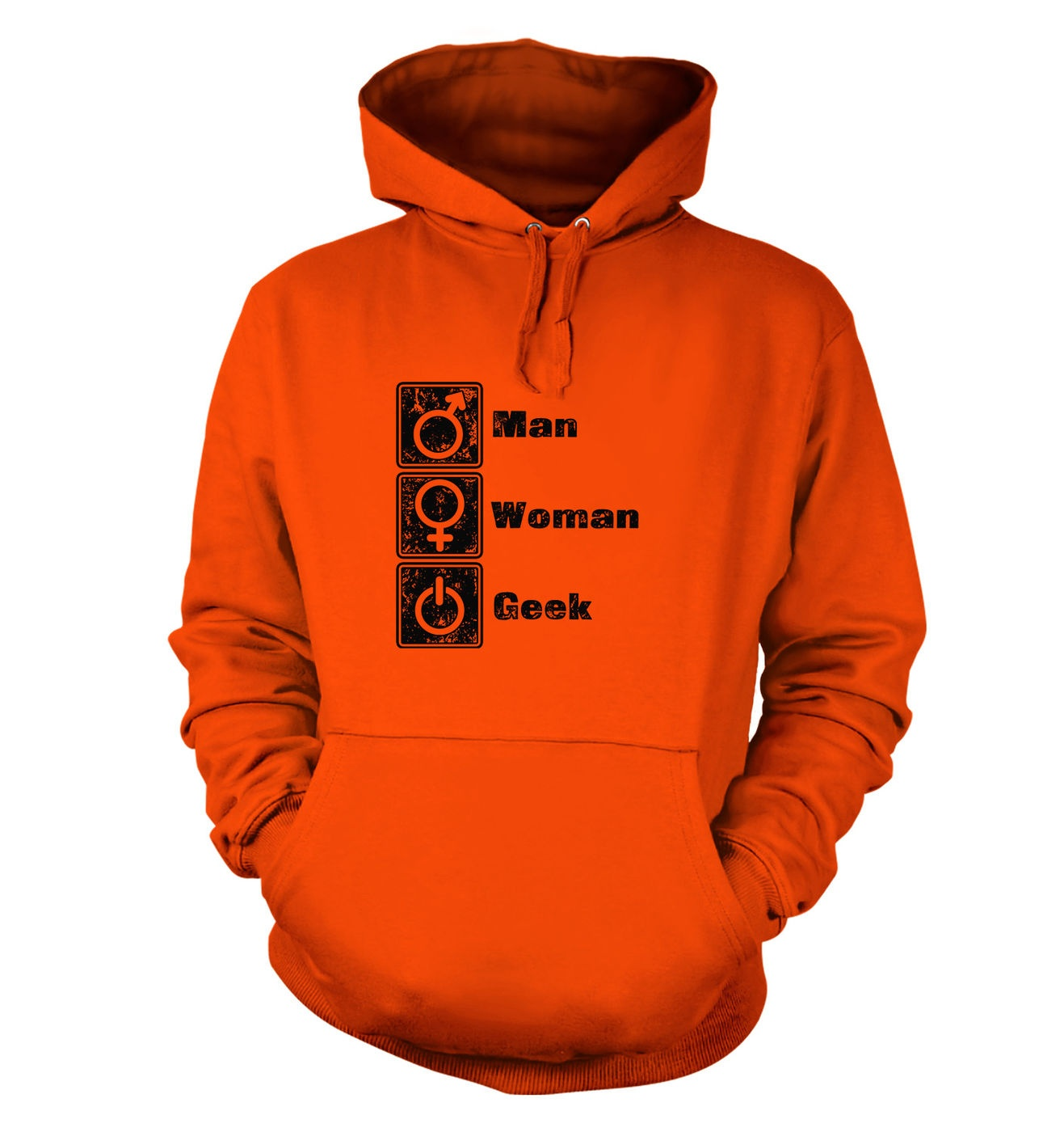 Man Woman Geek hoodie by Something Geeky