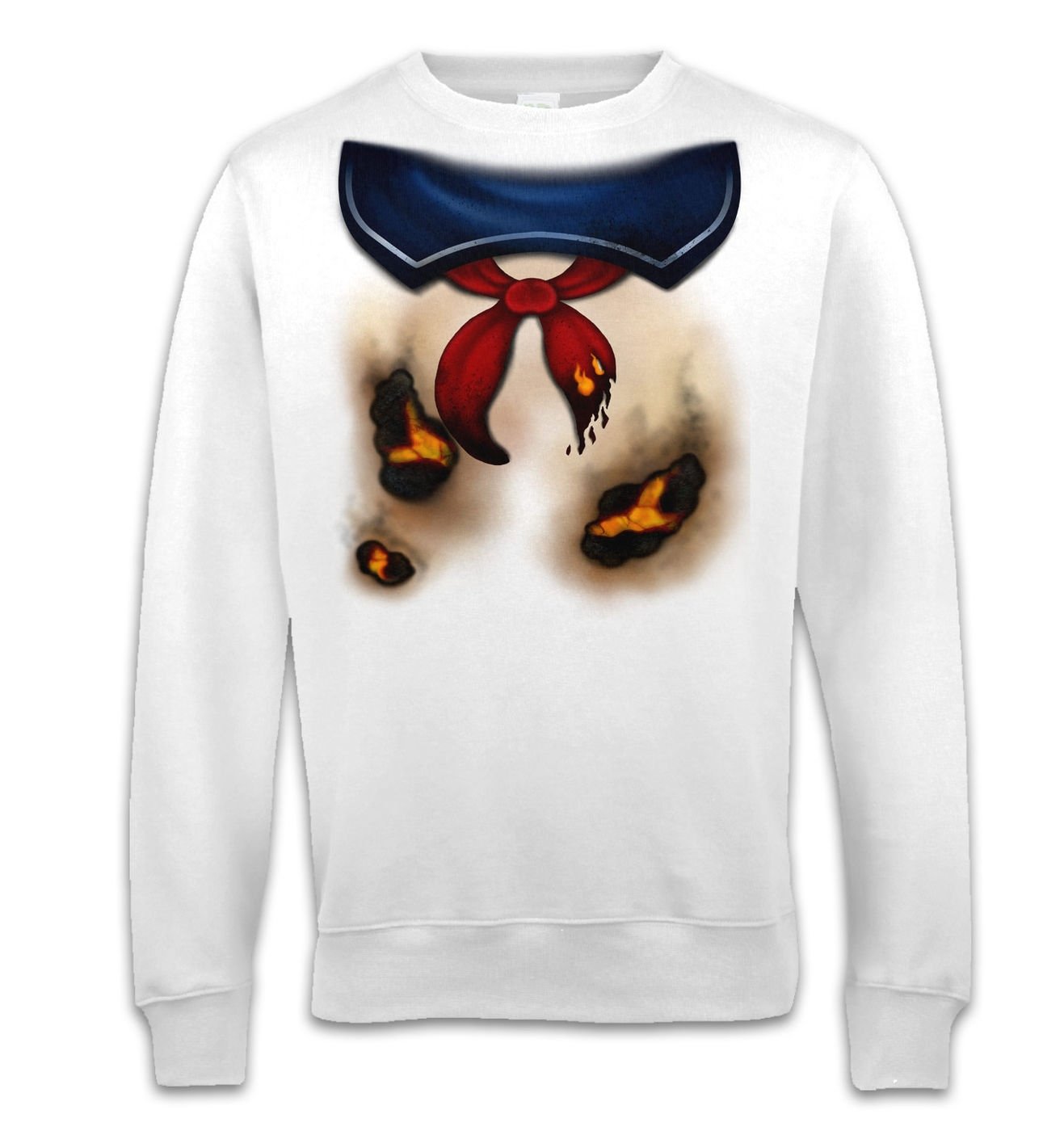 Marshmallow Man Costume adult sweatshirt