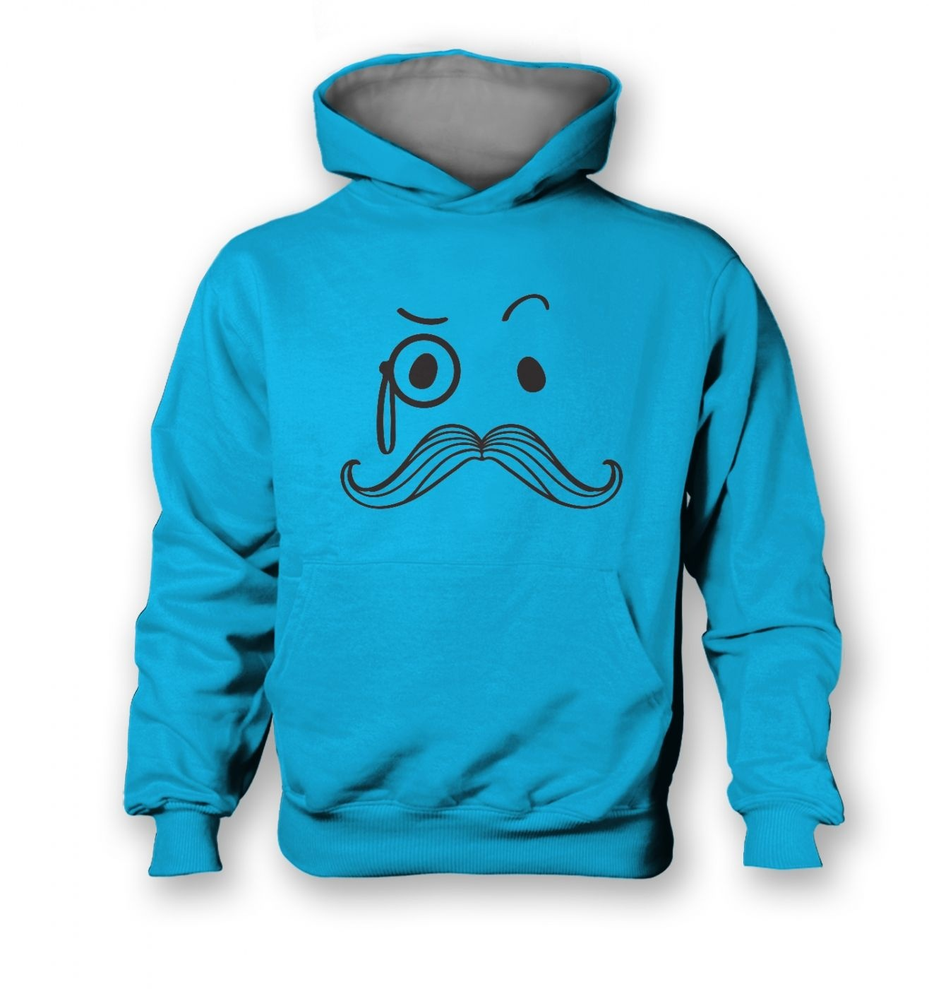 Monocle and Moustache kids contrast hoodie