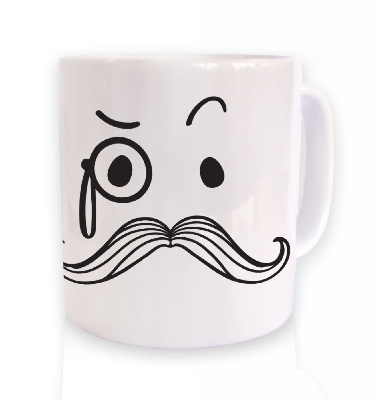 Monocle and moustache mug