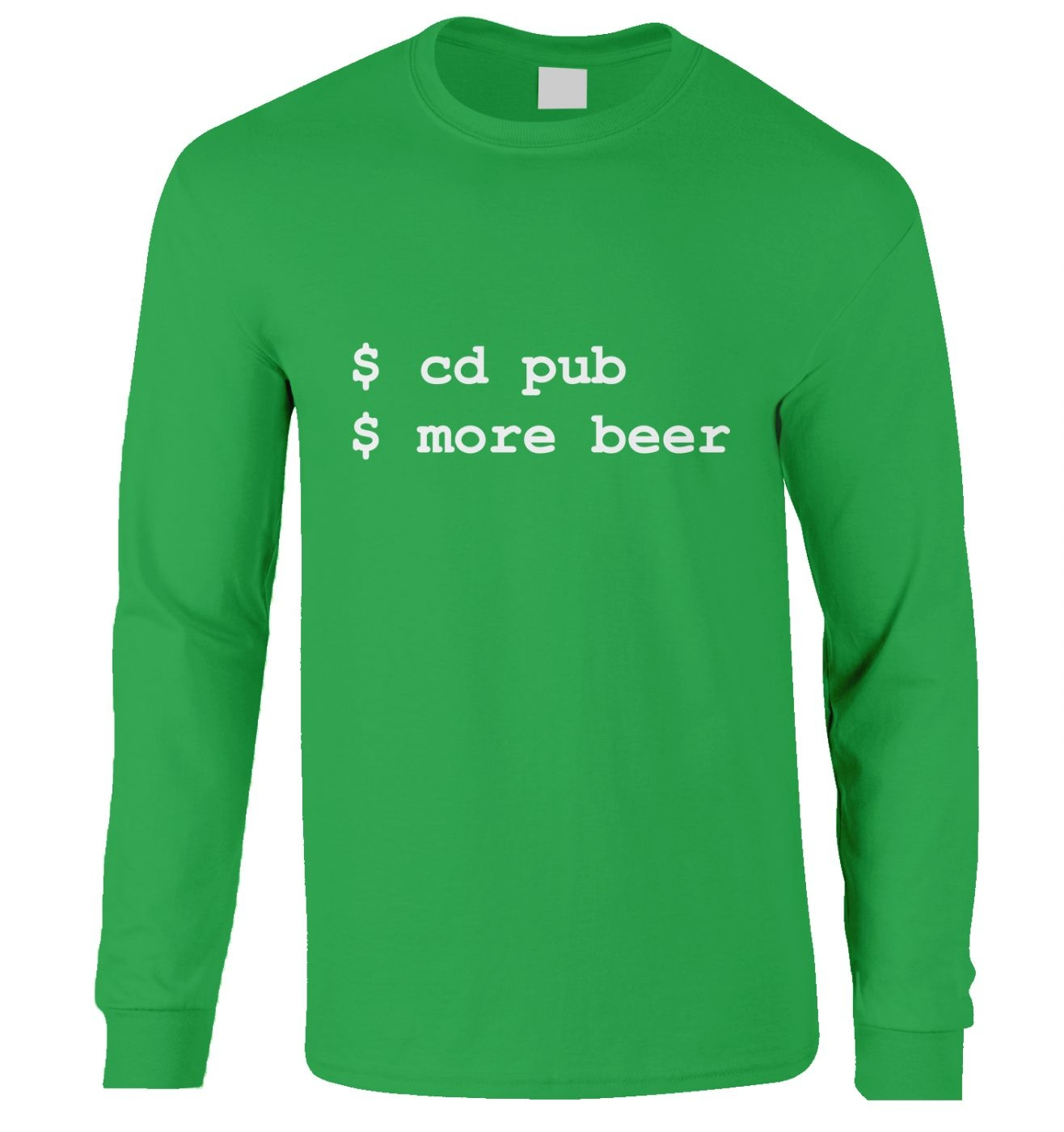 More Beer Linux long-sleeved t-shirt