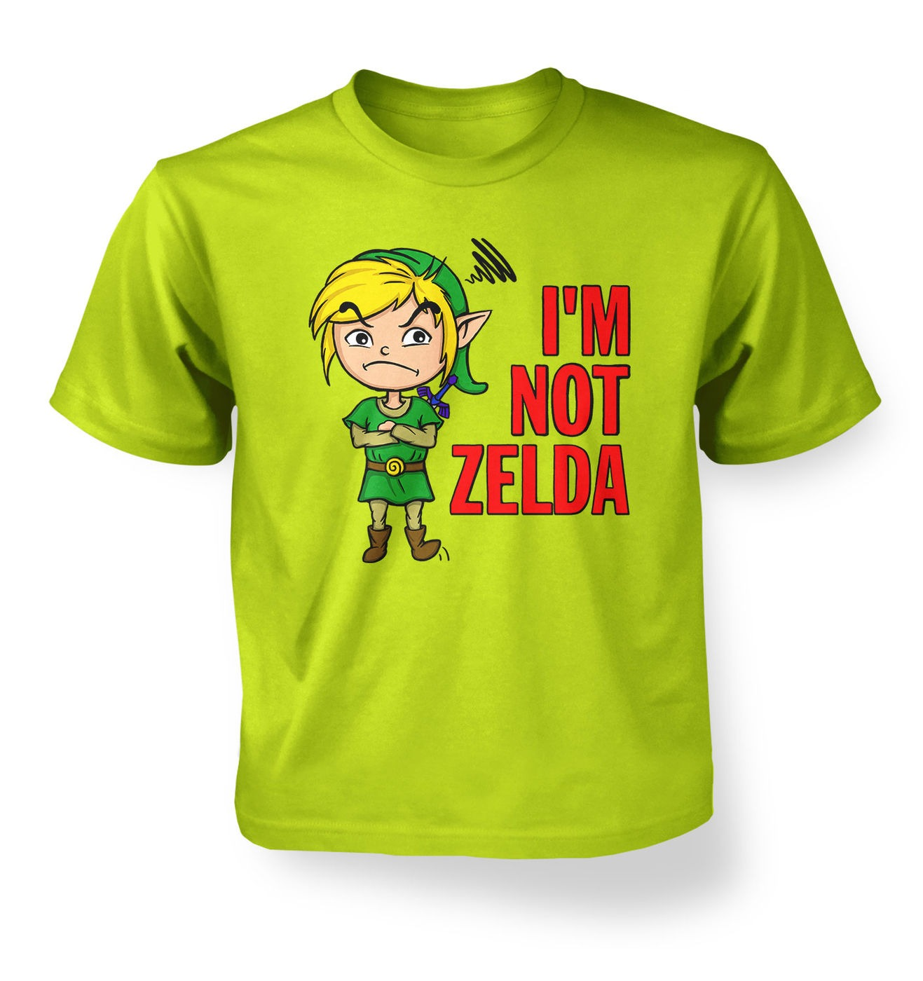 Not Zelda kids t-shirt by Something Geeky