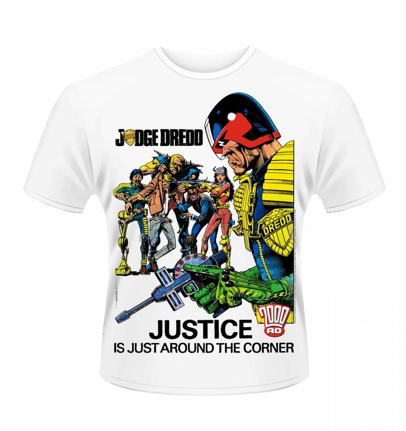 OFFICIAL Judge Dredd justice men's t-shirt