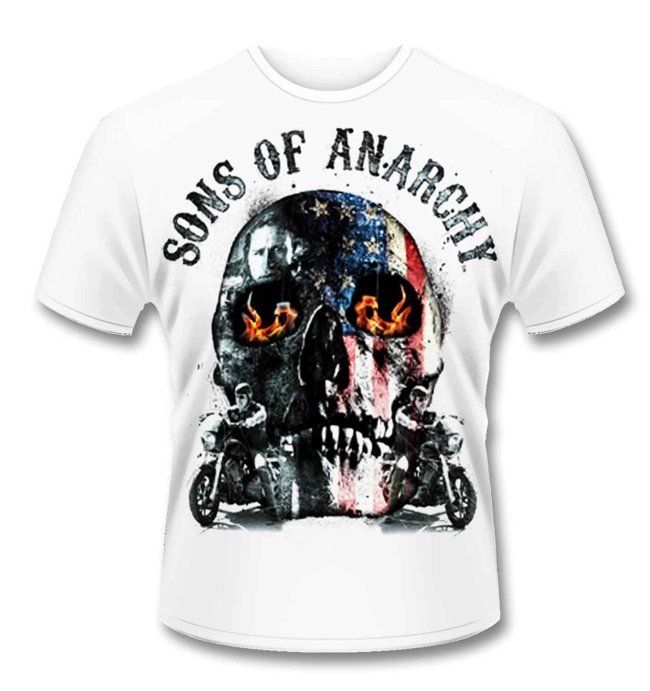 official sons of anarchy flame skull t shirt somethinggeeky. Black Bedroom Furniture Sets. Home Design Ideas