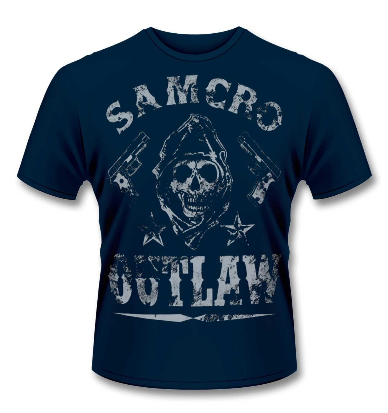 official sons of anarchy outlaw t shirt somethinggeeky. Black Bedroom Furniture Sets. Home Design Ideas